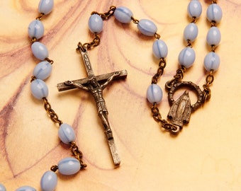 70's blue rosary