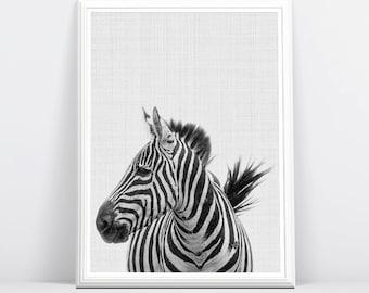 Zebra Print, Safari Nursery Art, Zebra Wall Art, Safari Nursery Animal Print, Nursery Printable, Safari Baby Shower Art Print, Safari Animal