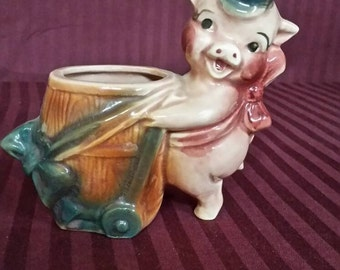 Pokey The Pig ceramic planter.