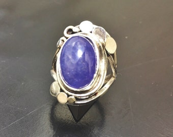Ring Tanzanite sterling silver Tanzanite Ring Silver sterling 925 thousandth euro 51.5 size 5.75 us 11.5 swiss