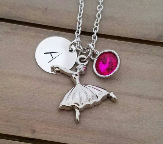 Ballet Charm Bracelet: Ballerina Necklace With Personalized Charm Ballet Dancer