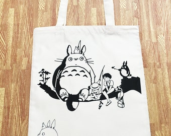 Studio Ghibli My Neighbor Totoro (Anime Film) Tote Canvas Shopper Bag Version01