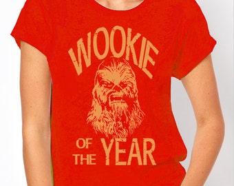 "Star Wars: ""Wookie of the Year"" Chewbacca Women's Red T Shirt"