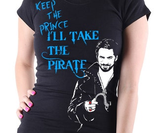"Once Upon A Time: Captain Hook ""Keep the Prince"" Women's T Shirt (3 Colour options)"