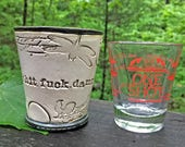 RESERVED FOR DON: shotglass with cursing and chicken