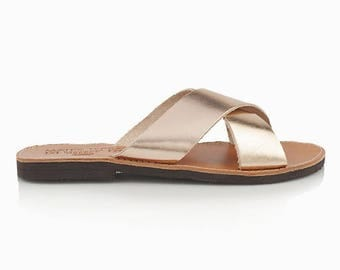Women's Handmade leather Flip Flop Sandals, Leather Flip Flops, Sandals for Women, Cheap Flip Flops