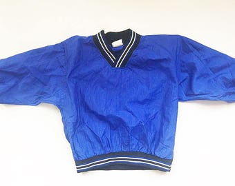 Pro Spirit, Vintage 1990's Baby Boy's Blue, Black, and White Sweatshirt / 90's Babies Sportswear / Vintage Baby Clothing