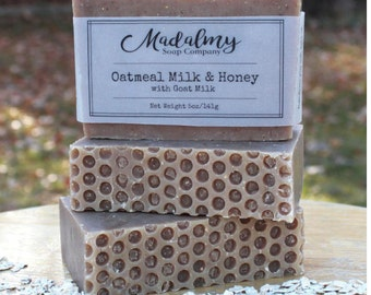 Baby Goat Milk Soap | Oatmeal Soap | Honey Oatmeal Soap | Honey Soap | Natural Soap | Handmade Soap | Dry Skin Soap | Sensitive Skin Soap