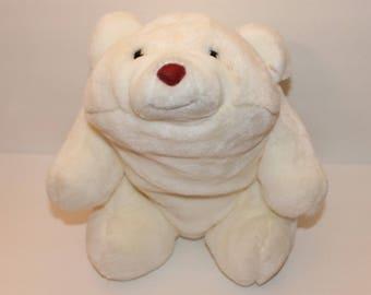 Vintage Gund Snuffles White Bear Plush, 80's Gund Plush, Gund Bear Stuffed Animal