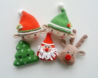 Christmas Decorations, Elf, Christmas Tree, Santa, Deer, Pattern, PDF