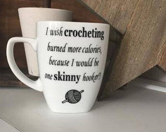 Crochet Gifts, Gifts For Crocheters, Mugs With Sayings, Personalized Mugs, Coffee Mugs, Crochet Gifts, Gifts For Her, Mugs With Humor