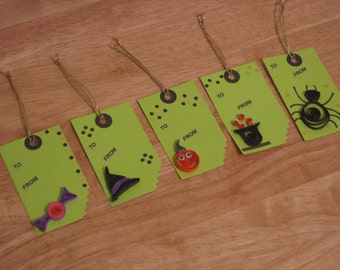 quilled gift tags etsy. Black Bedroom Furniture Sets. Home Design Ideas