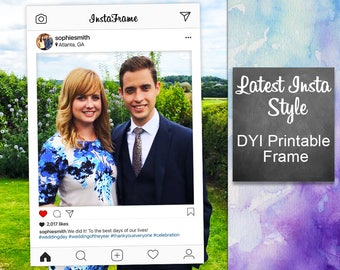 Instagram Frame DYI / Photo Booth Prop / Graduation, Prom, Birthday Party, Wedding / Teen, Social Media / Printable PDF