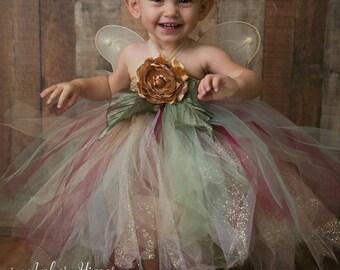 Infant & Girls Enchanted Woodland Glitter Fairy Set, Woodlan Fairy Set, Fairy Dress with Wings and Hairpeice, Photography Fairy Set