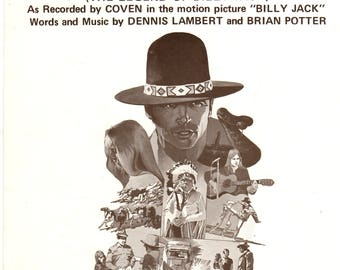 The Legend Of Billy Jack Movie One Tin Soldier Sheet Music 1969