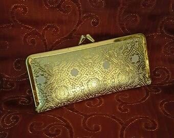 Gold Manicure Set Purse Nails Vintage 1980s 1990s Travel Accessories