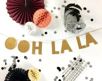 Bachelorette Party Banner   Bachelorette   Lingerie Shower OohLaLa Banner