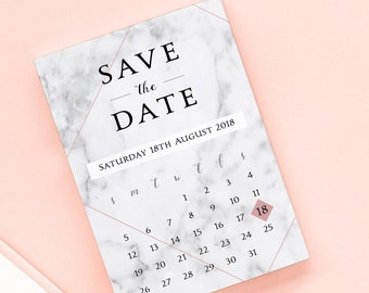 Marble Crush Save the Date/Wedding Announcement Cards
