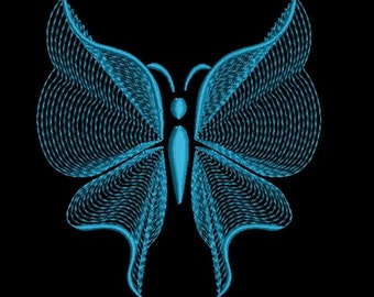 Rippled butterfly embroidery design-Butterfly machine embroidery design-Rippled-Instant download