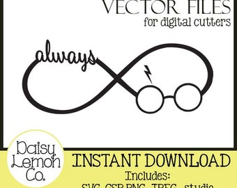 Vector File, Always HP Infinity Circle, Harry Potter Fan, SVG, Cutting machine, Silhouette