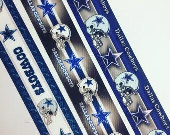 7/8 22mm Dallas Cowboys grosgrain ribbon