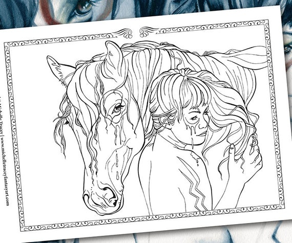 horse totem pole coloring pages - photo#33