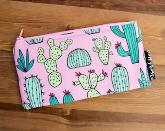 Cactus Pencil Case - Pencil Pouch - Zipper Pouch - Cactus Gifts - Gifts Under 20 - Zippered Pouch - Cactus Makeup Bag - Zip Pouch #10