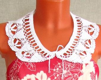 Воротничок крючком Красивый Collar crochet Beautiful