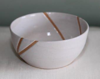 Line Series: Small White Bowl