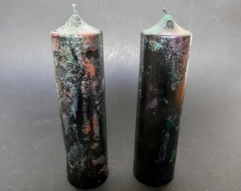 Black Candles, Pillar Candle, Candles Handmade, Unscented Candles