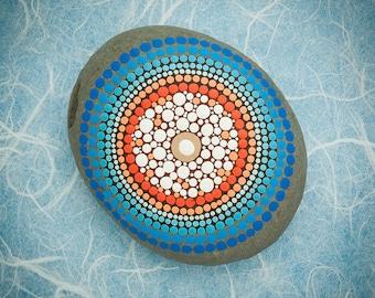Mandala Stone 'Winter Sunset'