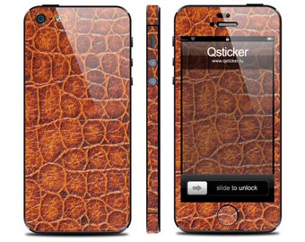 Alligator skin iPhone 5s, alligator decal iPhone 4s, iPhone 5s skin, iPhone 4 decal, decal iPhone se, iPhone se skin, 3M vinyl