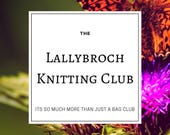 Lallybroch Knitting Club-Project Bag Club and Knit Along, Includes Stitch Markers and OOAK Yarn, Scottish Thistle