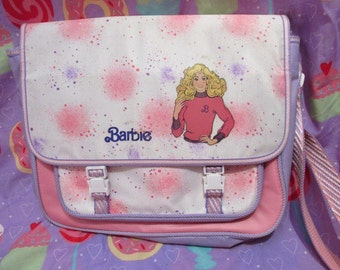 20% OFF! Vintage 1980's Barbie Pastel Fairy Kei Satchel Bag