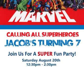 Marvel Birthday Invitation - PRINTED