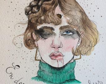Polish - watercolor and acrylic - original painting