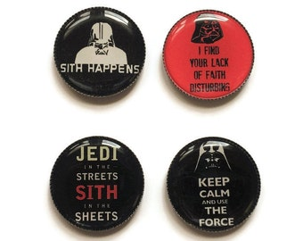 Star Wars magnets or Star Wars pins, Sith, Jedi, The Dark Side, The Force, Darth Vader