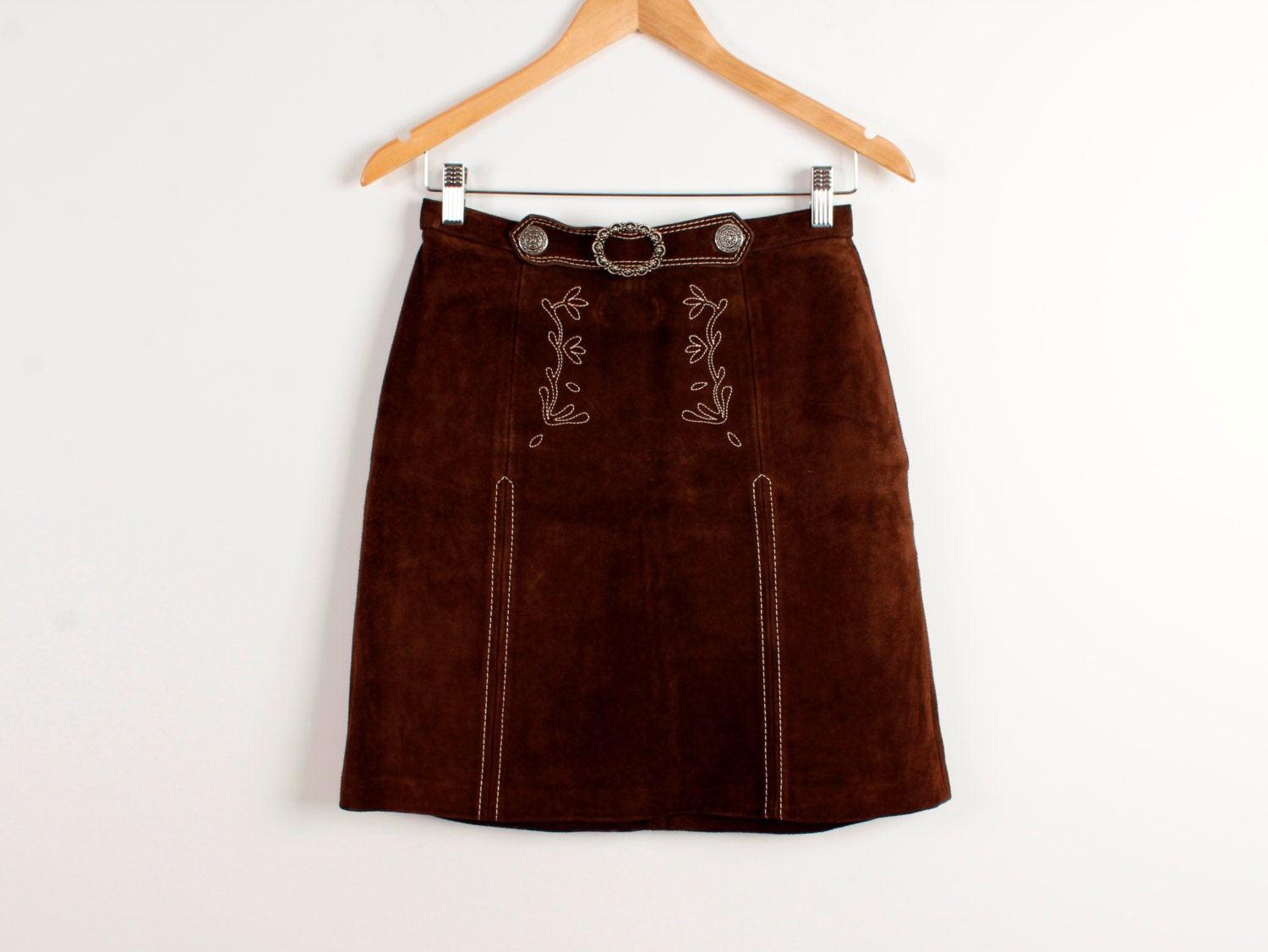 brown leather skirt vintage country western style mini skirts