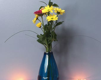 Large Crystalline Vase - Aquamarine