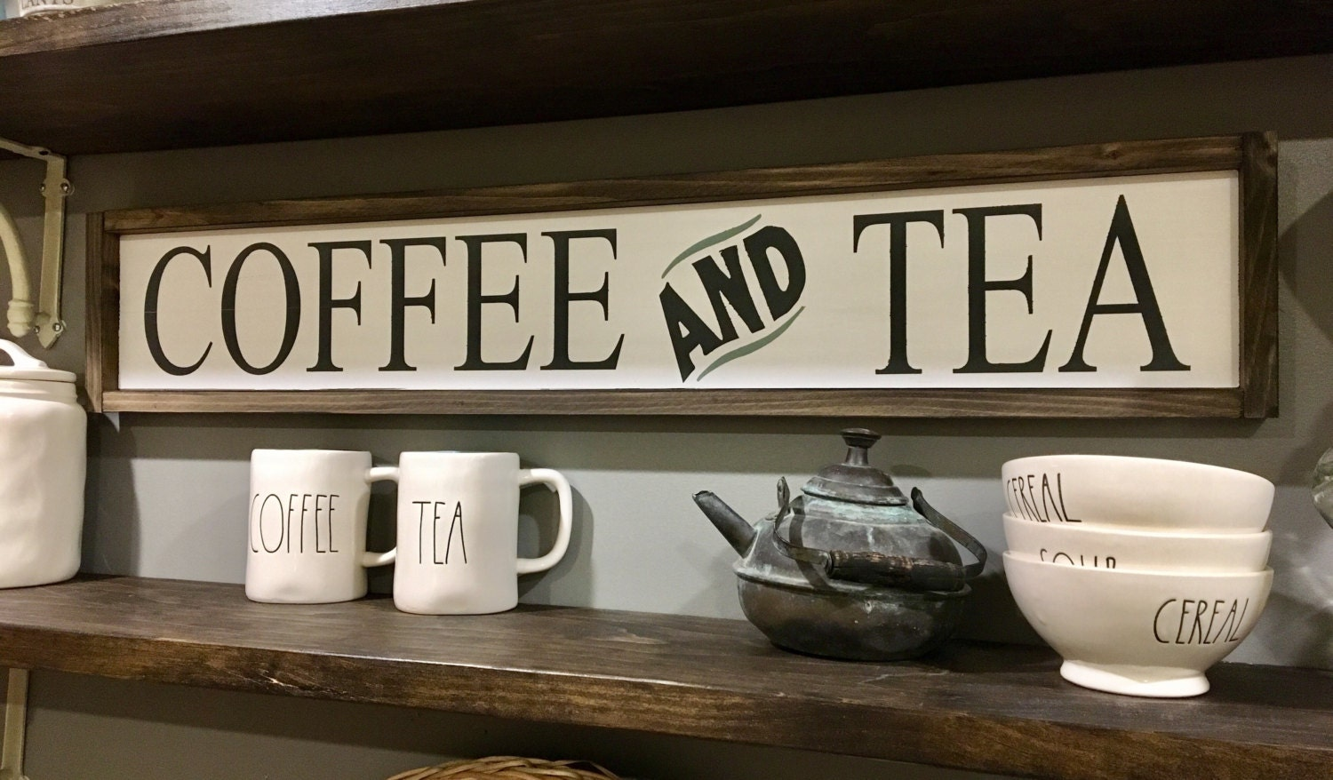 coffee and tea sign coffee bar signs kitchen signs tea