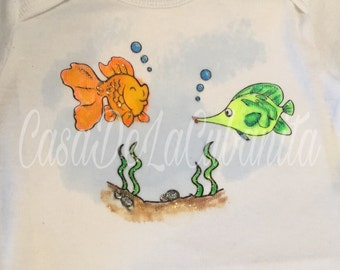 Hand painted watercolor onesies