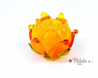 Handmade Lampwork Flower Bead