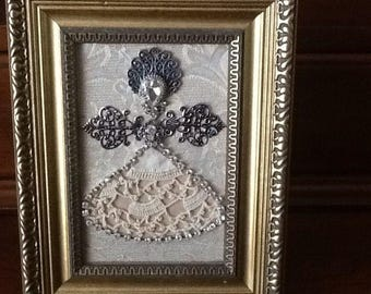 Angel with Crocheted Skirt