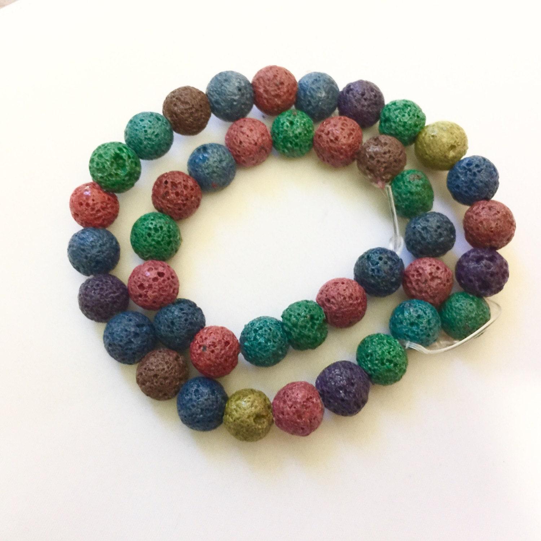 Lava beads, semi precious stones, healing gems, jewellery making ...
