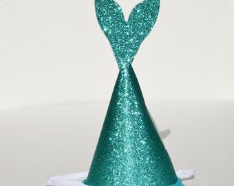 Mermaid Party Hat // Mermaid birthday hat // Mermaid tail hat // mermaid first birthday // Mermaid Birthday Party Decorations //