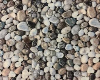 "Elizabeth's studio landscape medley rock fabric 100% cotton fabric by the yard 36""x44"" (H67)"