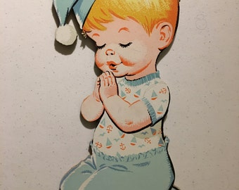 1970 The Dolly Toy Co Praying Kids Wall Plaques