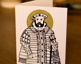 Henry VIII Screen Printed Card