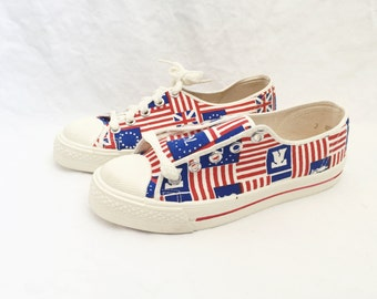 kids scottie american flag sneaker shoe size 3