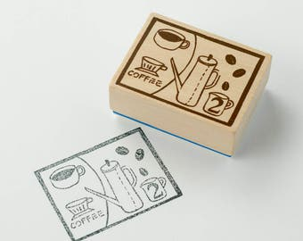 Chamil Garden x Litte Path Stamp H TEATIME / H1 Wooden Rubber stamp XM-ST-076